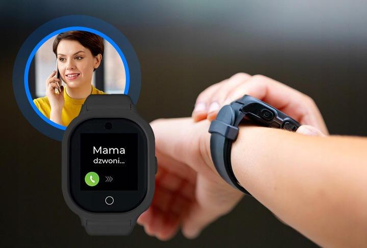 Smartwatch GPS dla dziecka w kolorze czarnym