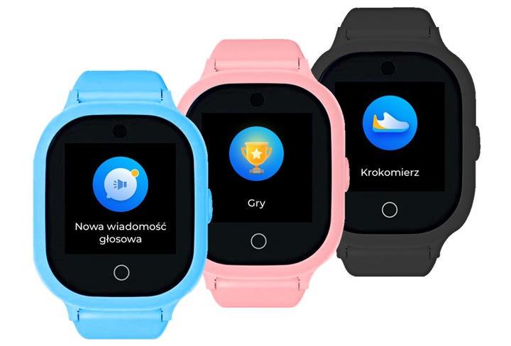 Zegarki GPS dla dziecka GJD.06 w kolorach: czarnym, niebieskim, różowym