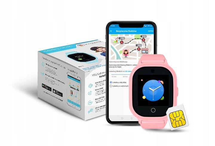 Lokalizator GPS dla dziecka w kolorze różowym